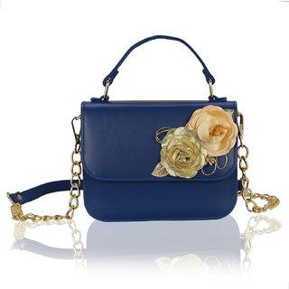 Kleio Flower Embellished Designer Sling Hand Bag Stachel For Women / Girls