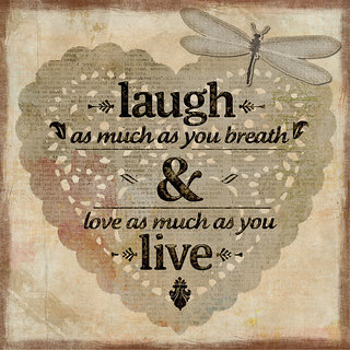 laugh & live quote poster
