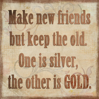 make new friends quote poster