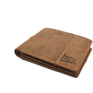 iMex Mens Brown Genuine Leather Wallet
