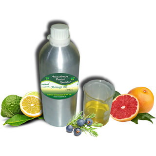 ecoplanet Aromatherapy Massage Oil Detox 1 Litre, Eliminates Toxins, Promotes Blood Circulation, For Body and Skin
