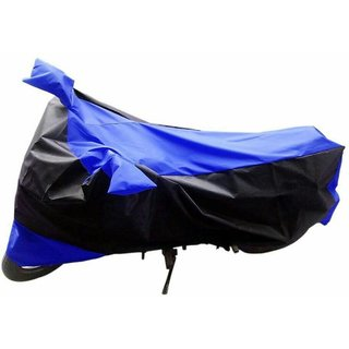 AKART Black & Blue Two Wheeler Cover for HF Deluxe