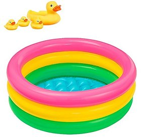 Shanti Enterprises Combo Intex Pool And Duck Family Bab