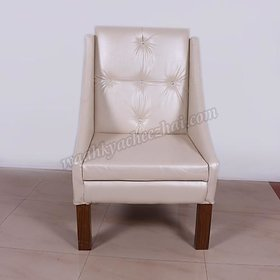 Single piece natural off white chair