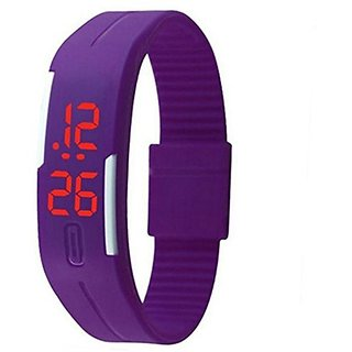 Shanti Enterprises Combo Sports Watch Multi Color Dial For Kids and Purple Digital LED Watch