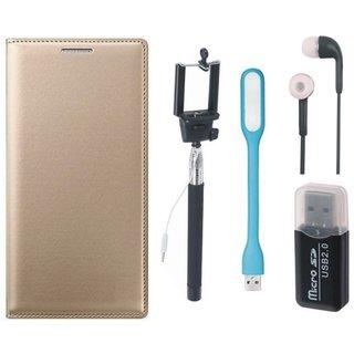 Vivo V7 Plus Cover with Memory Card Reader, Selfie Stick, Earphones and USB LED Light