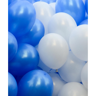 Buy 50 Pieces Blue And White Balloons For Birthday Decorations Online 149 From ShopClues