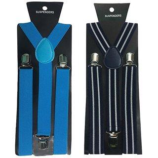 Atyourdoor Y- Back Suspenders for Men(NB Bline Design)
