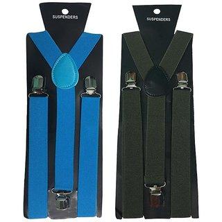 Atyourdoor Y- Back Suspenders for Men(NB Green Color)