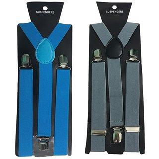 Atyourdoor Y- Back Suspenders for Men(NB Grey Color)