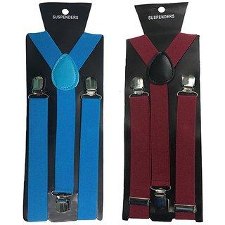 Atyourdoor Y- Back Suspenders for Men(NB Maroon Color)