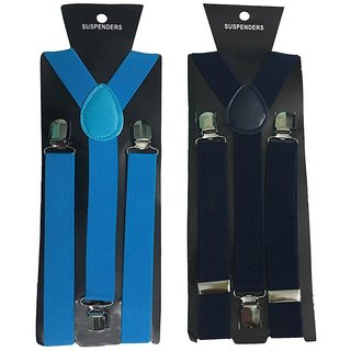 Atyourdoor Y- Back Suspenders for Men(NB Navy Blue Color)