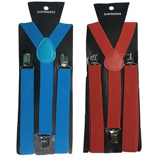 Atyourdoor Y- Back Suspenders for Men(NB Red Color)