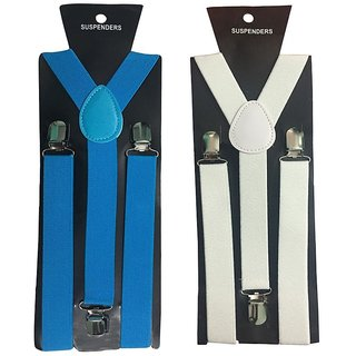 Atyourdoor Y- Back Suspenders for Men(Blue White color)