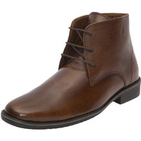 CIZMAR Leather Chukka Boot In Brown Colour