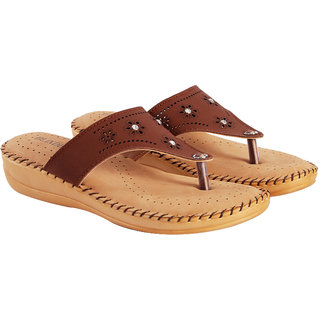 872e96512bd Blinder Women's Brown Ladies Doctor Latest and comfortable Slipper and Flip  Flops