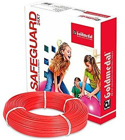 GOLDMEDAL 1.5Sq mm Fire Retardant Wire - 90m (Red)