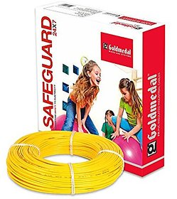 GOLDMEDAL 2.5Sq mm Fire Retardant Wire - 90m (Yellow)