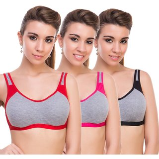 Woman Era full coverage multicoloure sport  bra