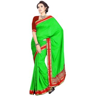 Triveni Multicolor Bhagalpuri Silk Lace Saree With Blouse