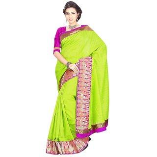 Triveni Multicolor Bhagalpuri Silk Lace Saree With Blouse