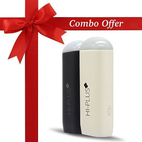 HI-Plus H100 Mini Combo Offer 2600 -mAh Li-Ion Power Bank (White,Black)