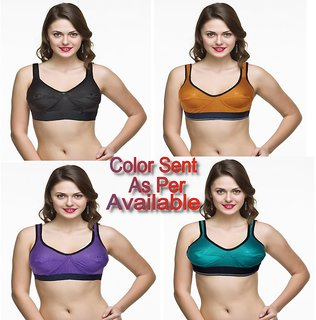 Plus Size Sports Bra Pack Of 4  Size 38,40