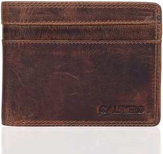 Calfnero Men's Pure Leather Bi-fold Wallets