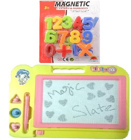 Combo of Magnetic Learning Numbers (123) with drawing ,writing Magic Slate for kids