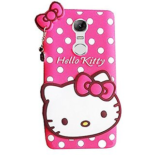 buy popular 9001f 1c2cc LENOVO K6 NOTE Back Cover - Anvika Printed Hello Kitty Soft Rubber Silicone  Pink Back Cover Case For LENOVO K6 NOTE Back Cover- Pink