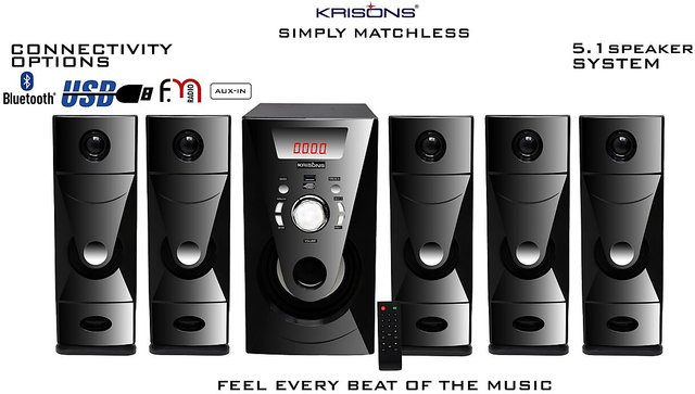 Krisons Bazooka 5 1 Bluetooth Multimedia Home Theatre With 5 25