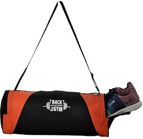 CP Bigbasket Polyester Stylish Gym Sport Duffle Bag With Shoe Compartment (Orange)