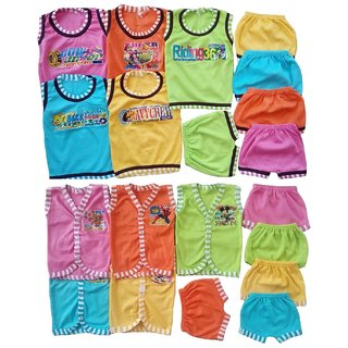 Sonpra Baby Soft Cotton  Jablas T-Shirts Shorts Combo Set -Colorful Fashion Style