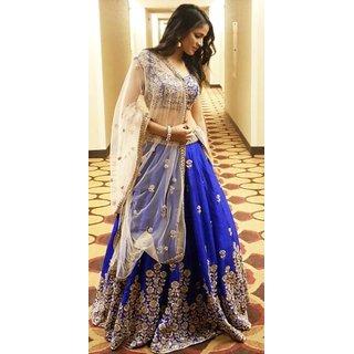 New Latest Superb Bollywood Designer Royal Blue Lehenga Choli