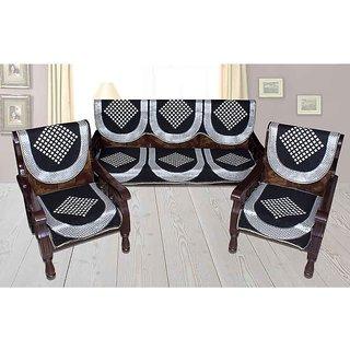 Shiv kirpa Black Color 5 Seater Sofa Cover