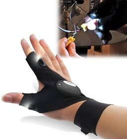 Right Traders Fishing Strap Fingerless Led Glove Flashlight Torch ( pack of 1 )