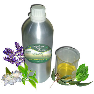 ecoplanet Aromatherapy Diffuser oil Clean Air blend of Essential oils of Eucalyptus, Myrtle, Tea Tree, Peppermint and Lavender 1000g