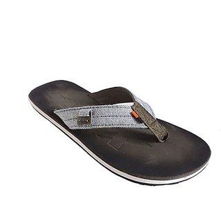 Sparx Olive & White Men Flip Flop & Slippers (SFG-37)