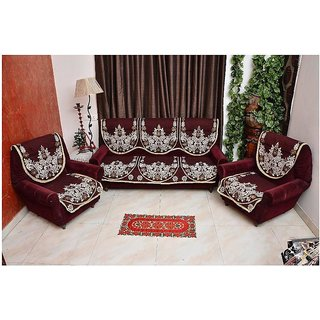 Shiv kirpa Best Quality 5 Seater Sofa Cover Pack Of 6