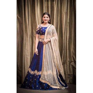 Buy Meia New Designer Latest Banglory Silk Lehenga Online Get 67 Off