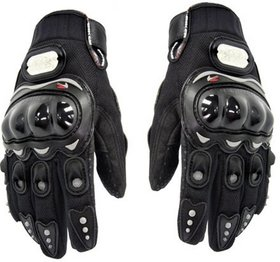 Black Pro Biker Gloves For Bikers