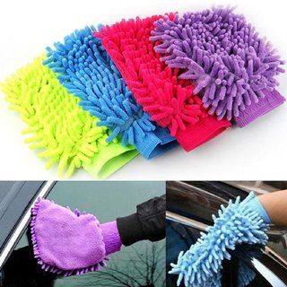 Set Of 10 Microfiber Gloves Assorted