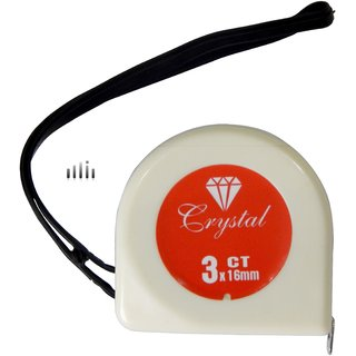 Crystal 3 Meter Pocket Measuring Tape (3mx16mm)