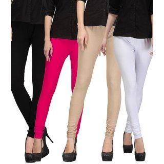 I Shop Cotton Lycra Women's Churidar Legging