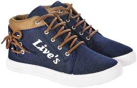 Ethics blue denim casual shoes