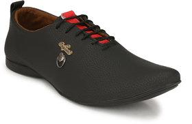 Lee Peeter Men's Black Stylish Lace Up Casual Shoe
