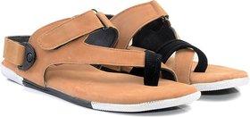 Lee Peeter Men's Tan Valcro Sandals