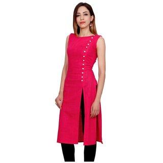 Meia pink designer stitched crepe designer kurti