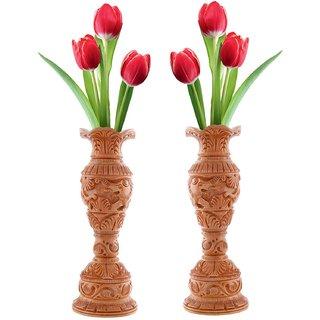 Wooden Elephant Carving Flower Vase/Pot Set Of 2  sc 1 st  Shopclues & Buy Wooden Elephant Carving Flower Vase/Pot Set Of 2 Online - Get 29 ...