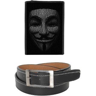 Fashionbit Combos Belt   Printed Wallet